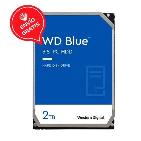 WD 2TB Blue 256MB SATA III WD20EZAZ Disco Duro frontal