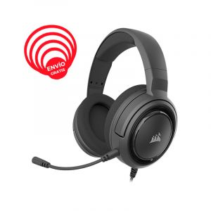 CORSAIR HS45 SURROUND Carbon  CA-9011220-NA Audifonos Gamer diagonal