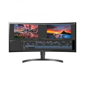 LG 34 34WN80C-B WQHD IPS HDR10 sRGB 99% HDMI DP 60Hz 5ms Curvo Monitor frontal