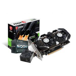 MSI GeForce GTX 1050 TI OC DUAL FAN 4GB 600W 80 PLUS WHITE Tarjeta de Video con fuente