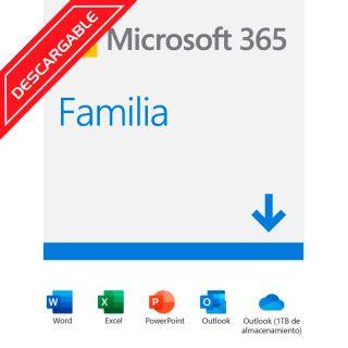 Microsoft Office 365 Familia 1 año 2019 6GQ-00088 ESD Licencia Descargable